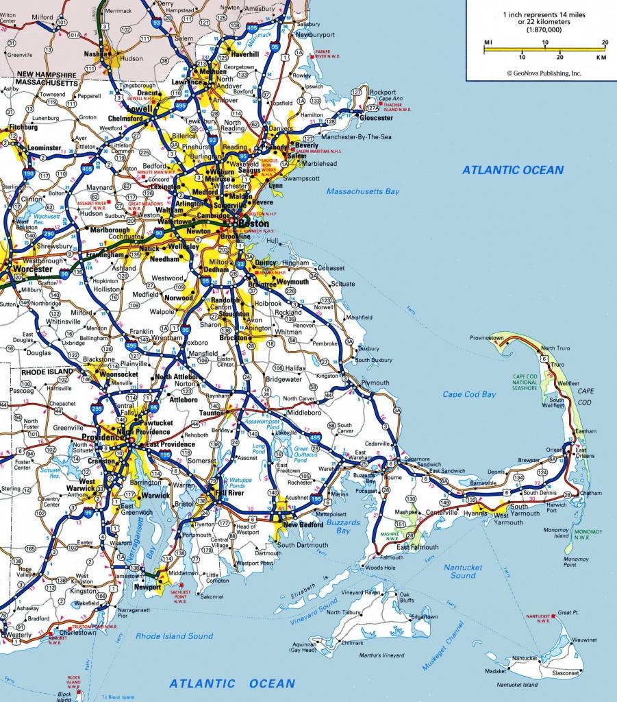 Map Of Eastern Massachusetts - Printable Map Of Massachusetts Towns