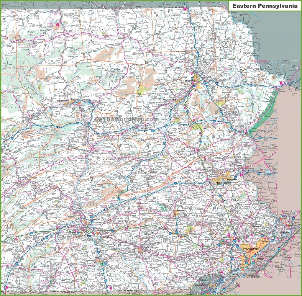 Map Of Eastern Pennsylvania - Printable Map Of Pennsylvania