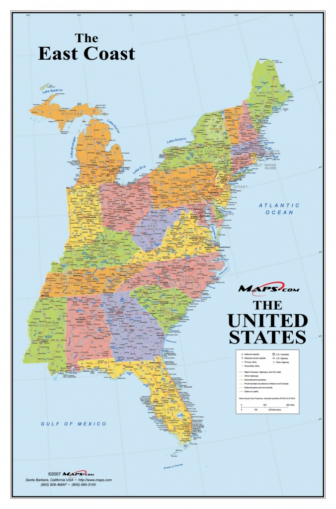 Map Of Eastern United States Printable Interstates Highways Weather - Printable Map Of Eastern United States
