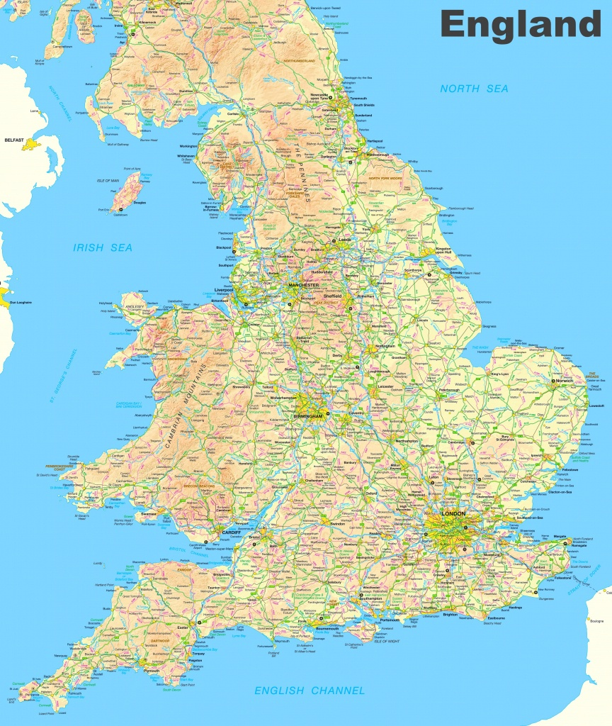 Map Of England And Wales - Printable Map Of England