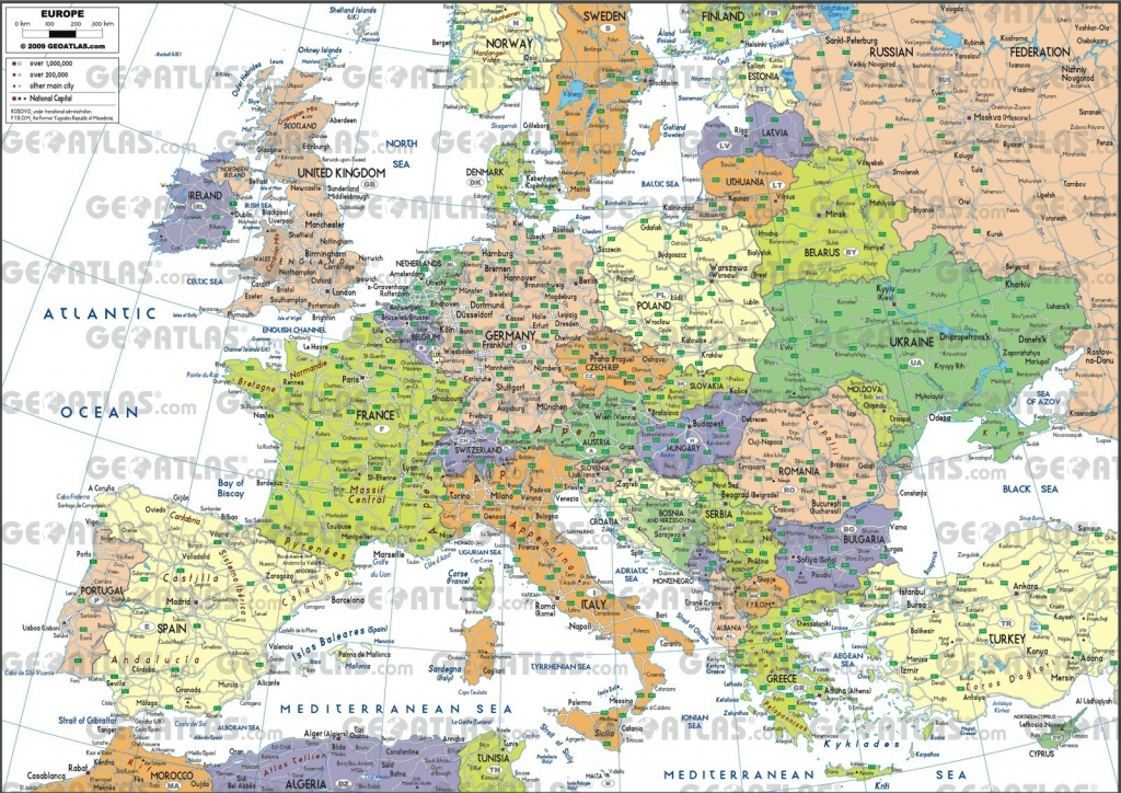 Map Of European Cities At Europe City On Printable With In 8 - World - Europe Map With Cities Printable