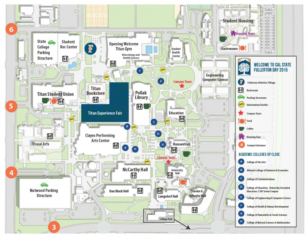 Map Of Event - Welcome To California State University, Fullerton Day - Spg California Map