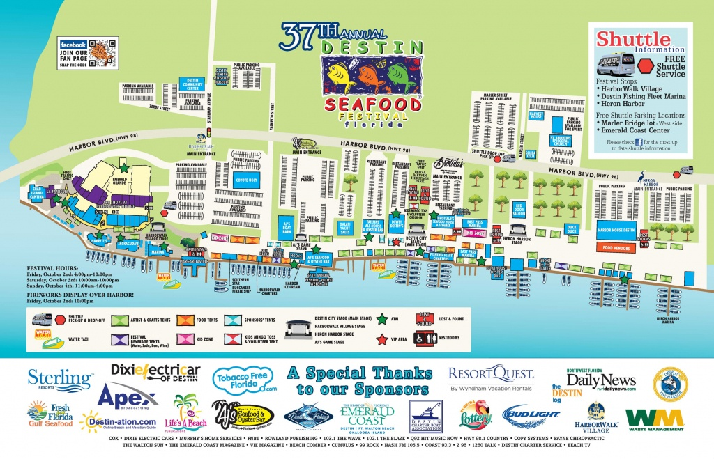 Map Of Fl Destin   Download Them And Print - Map Of Destin Florida Attractions