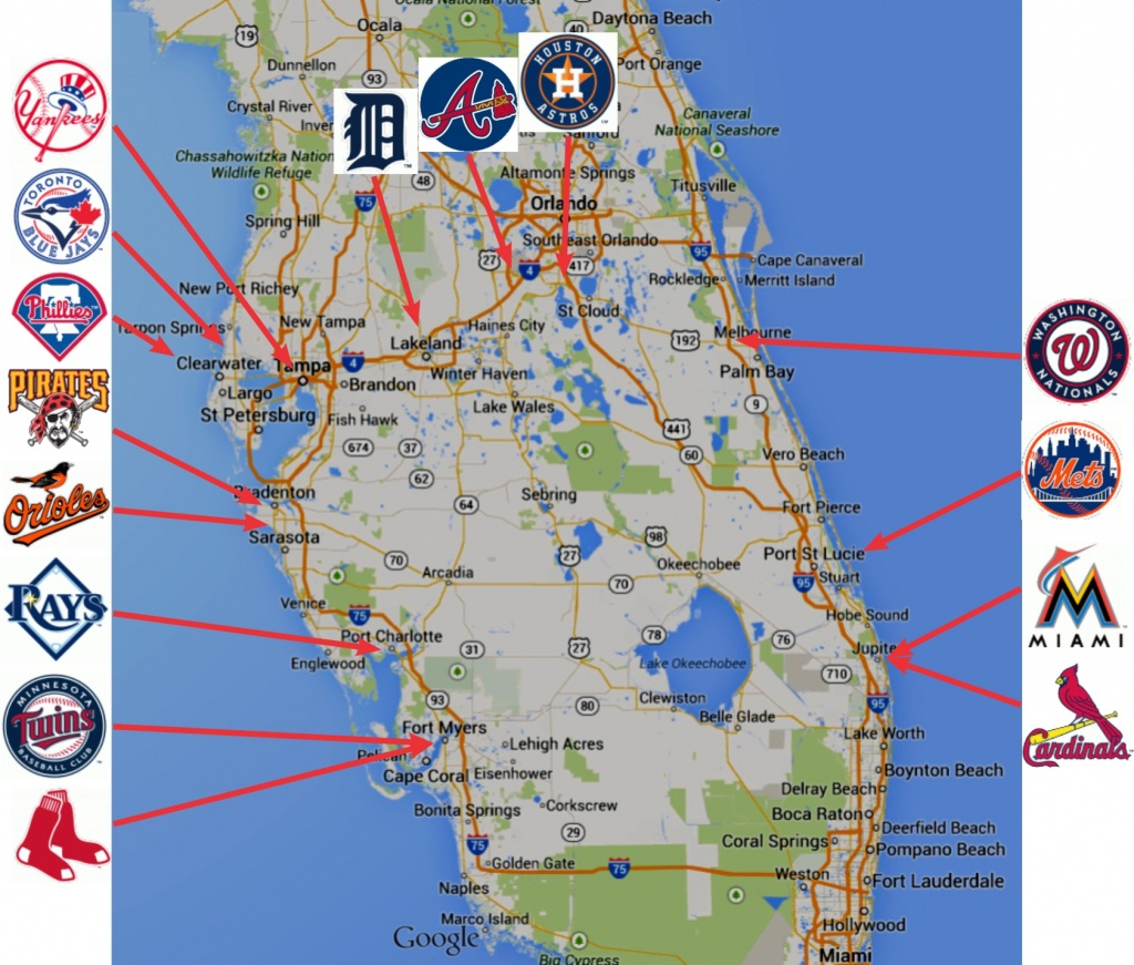 Map Of Fl Spring Training Sites   Download Them And Print - Map Of Spring Training Sites In Florida