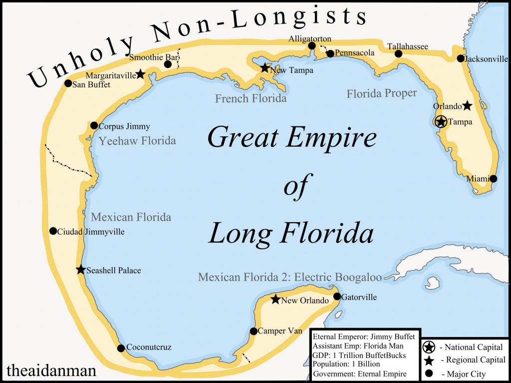 Map Of Florida, 2045. (Not My Oc) : Florida - Alligator Point Florida Map