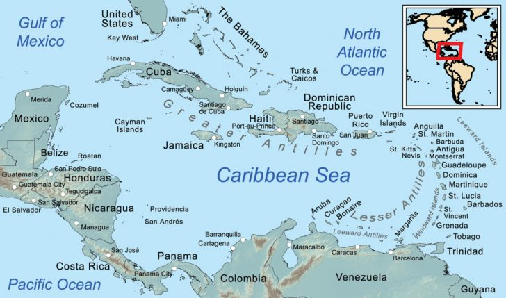 Map Of Florida And Caribbean