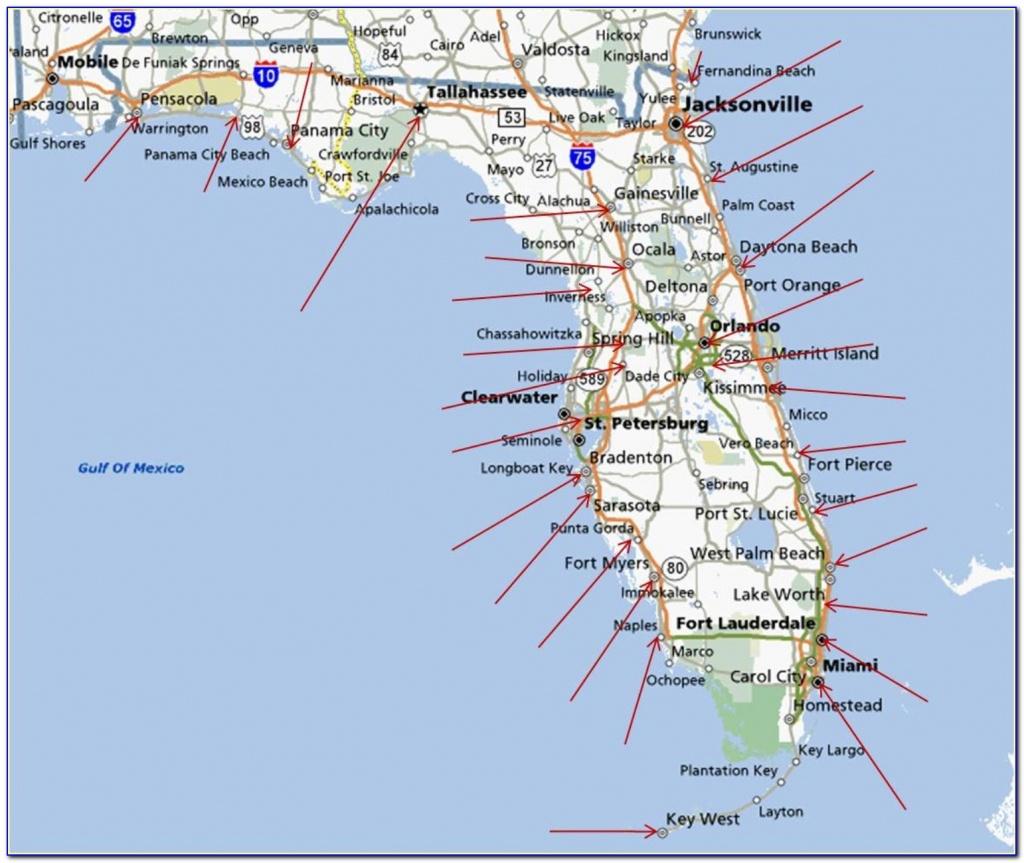 Map Of Florida Gulf Coast Beach Cities - Uncategorized : Resume - Map Of Florida Gulf Coast