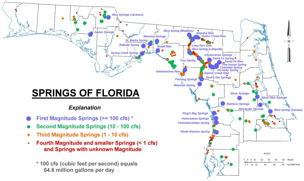 Map Of Florida Springs | Download Them And Print - Florida Springs Map
