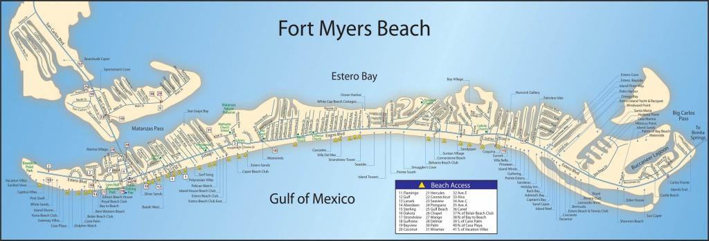 Map Of Fort Myers Beach | Dehazelmuis - Estero Beach Florida Map