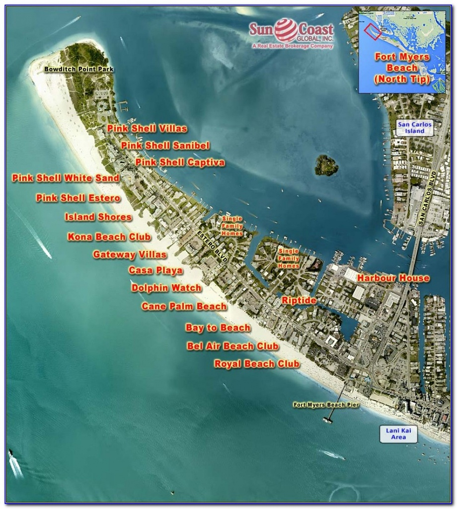 Map Of Fort Myers Beach Florida Hotels - Maps : Resume Examples - Estero Beach Florida Map