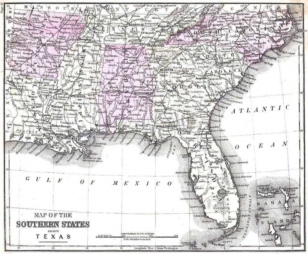 Map Of Georgia And Florida   Sitedesignco - Map Of Georgia And Florida