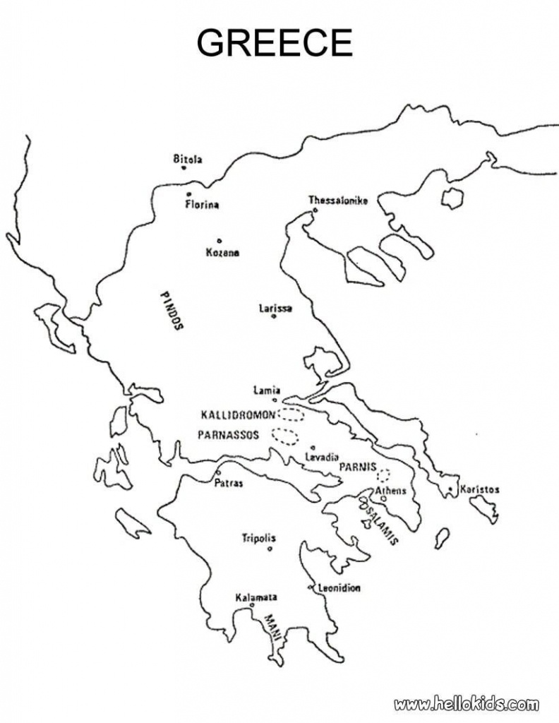 Map Of Greece Printable And Travel Information | Download Free Map - Outline Map Of Greece Printable