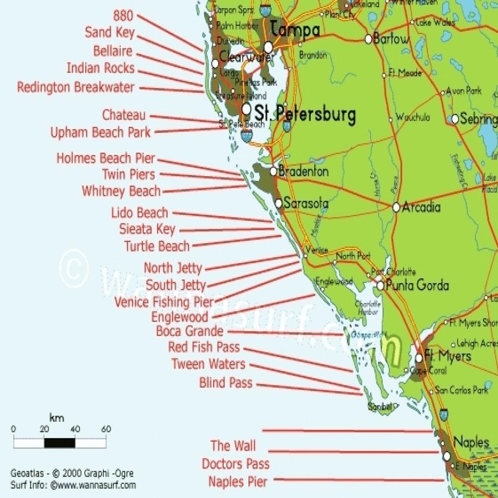 Map Of Gulf Coast States West Florida Free Regarding   D1Softball - Map Of Florida West Coast