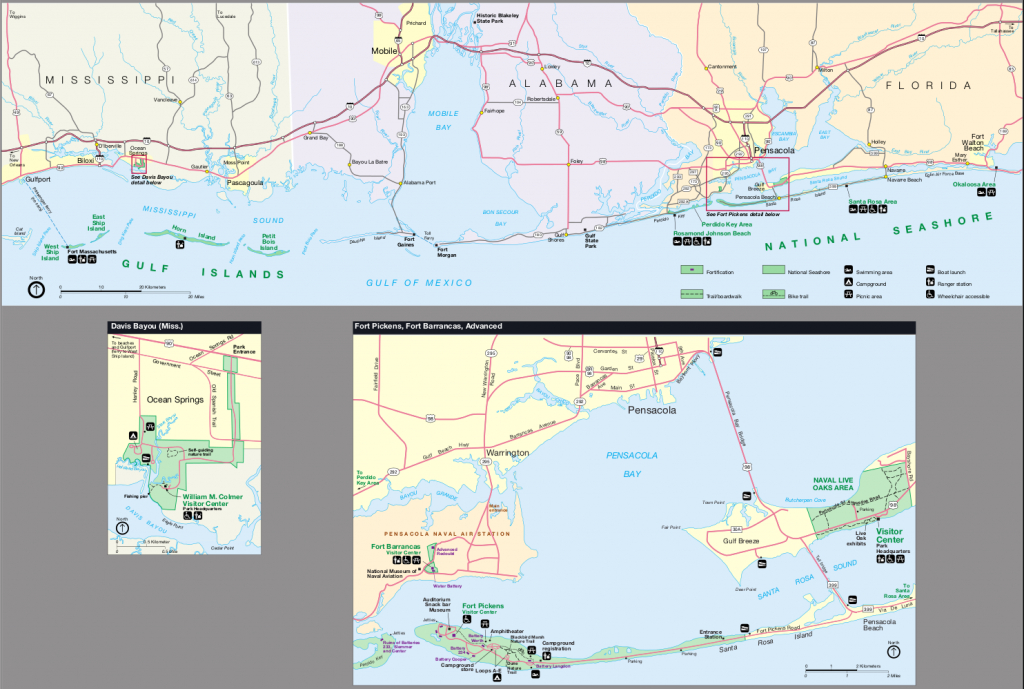 Map Of Gulf Islands National Seashore : Worldofmaps - Online - Florida Gulf Islands Map