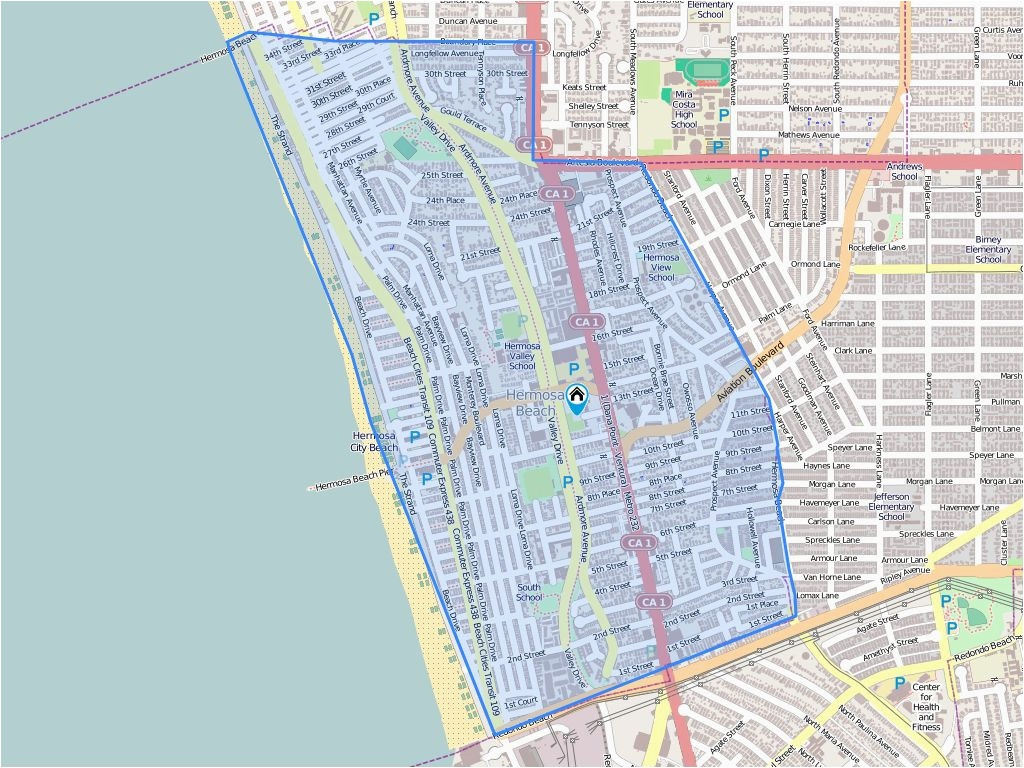 Map Of Hermosa Beach California 703 Pier Ave Hermosa Beach Ca Biggs - Hermosa Beach California Map
