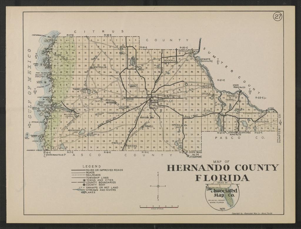 Map Of Hernando County Florida Sheet 27 - Touchton Map Library - Hernando Florida Map
