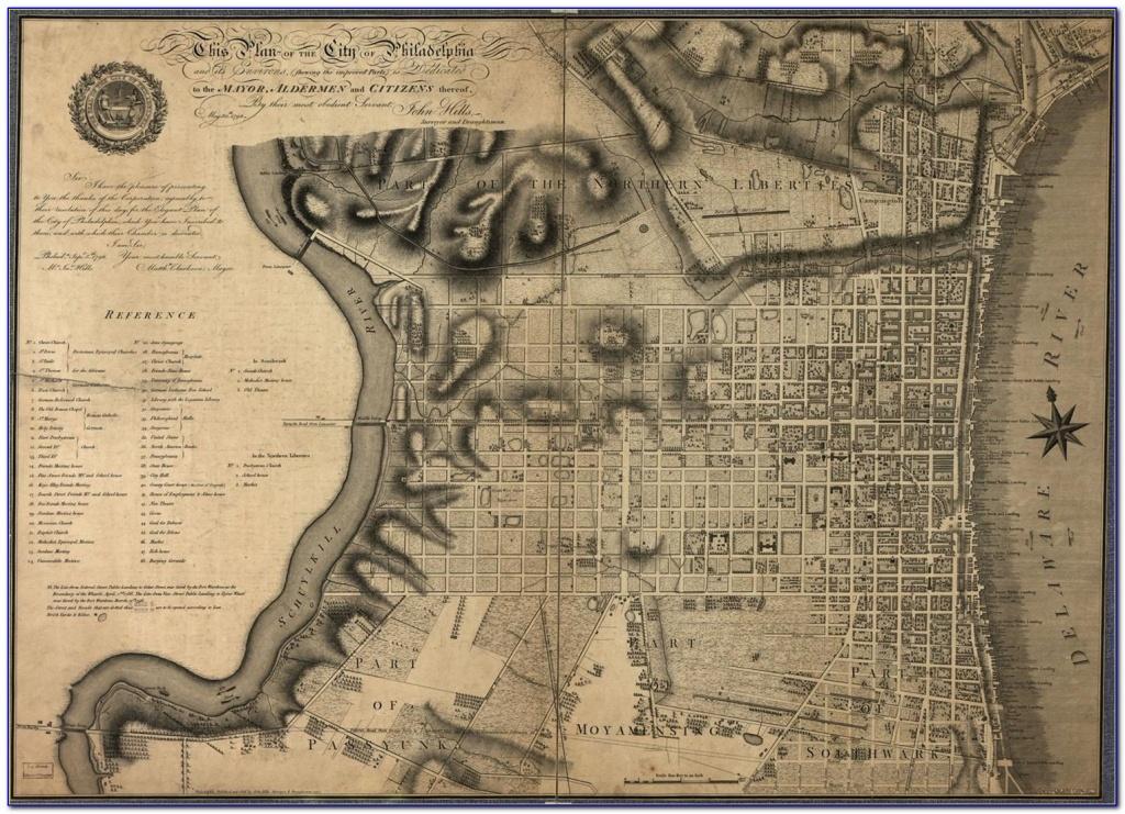 Map Of Historic Philadelphia Printable - Maps : Resume Examples - Printable Map Of Historic Philadelphia