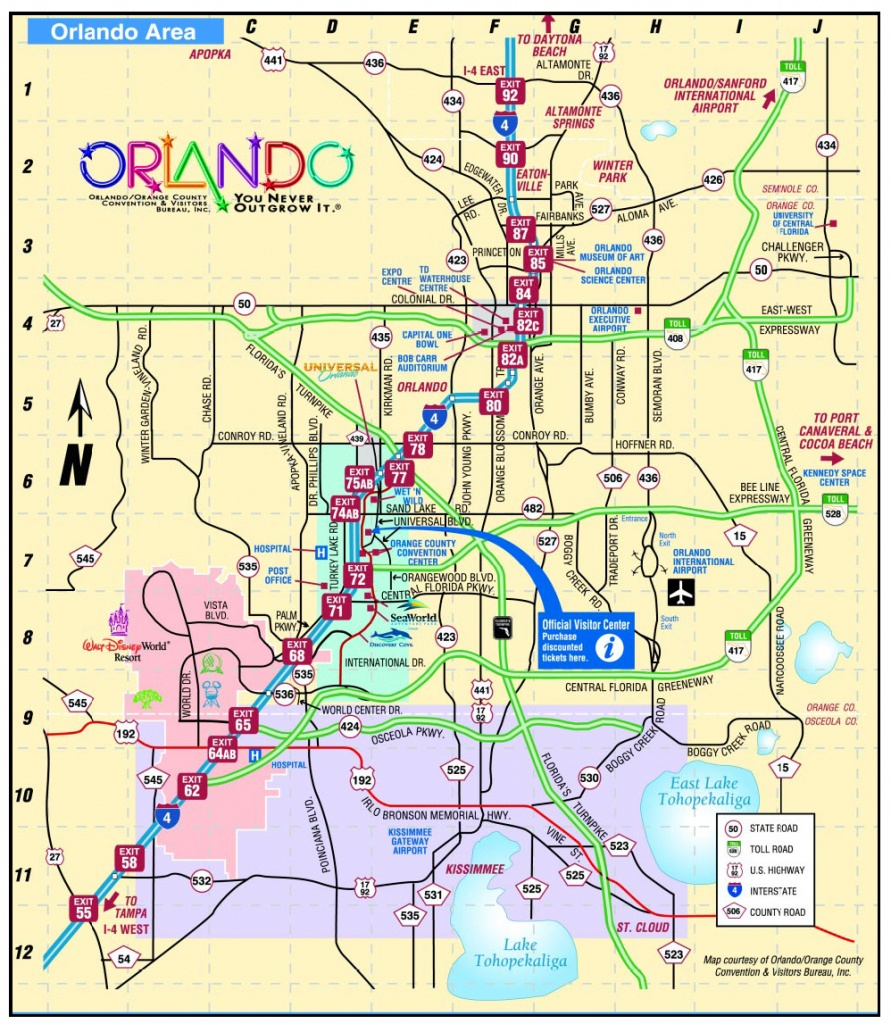 Map Of Hotels Orlando Fl | Download Them And Print - Map Of Hotels In Orlando Florida