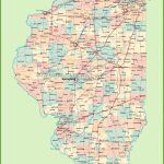 Map Of Illinois With Cities And Towns   Illinois County Map With Cities Printable
