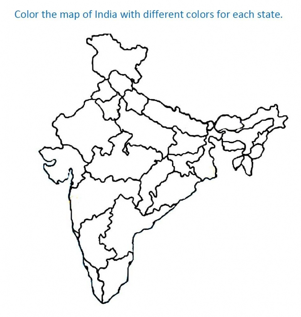 Map Of India For Kids - Coloring Home - Printable Map Of India