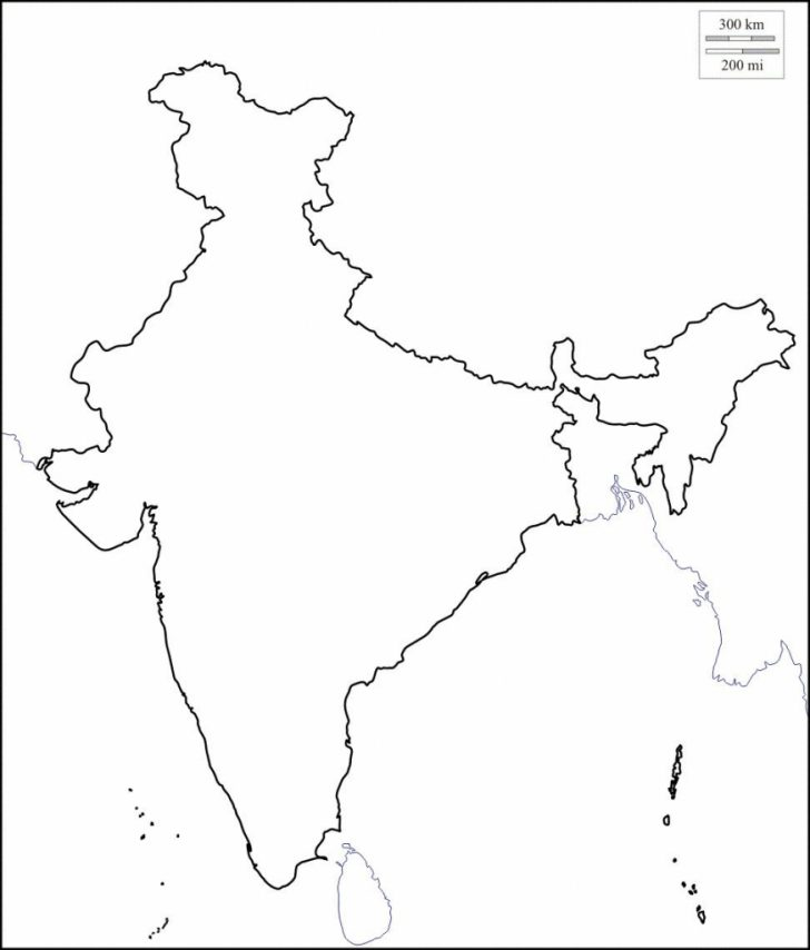 Map Of India Outline Printable