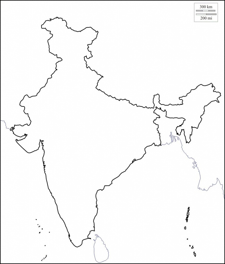 Map Of India Outline | Map Of India With States In 2019 | India Map - Map Of India Outline Printable