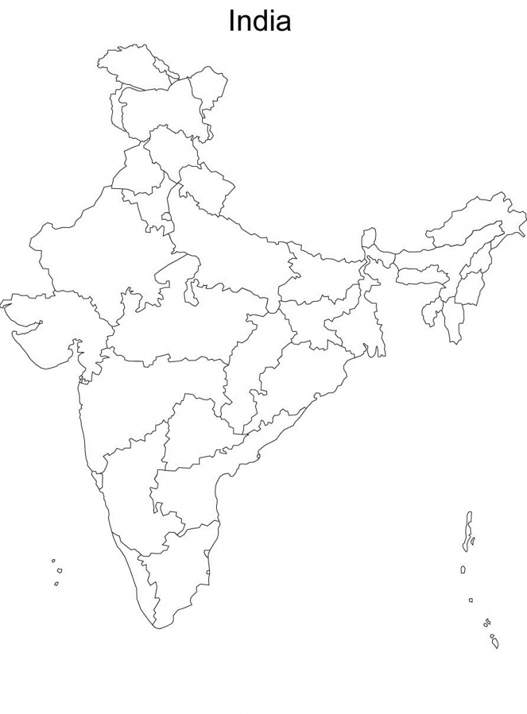 Map Of India Without Names Blank Political Map Of India Without - India River Map Outline Printable