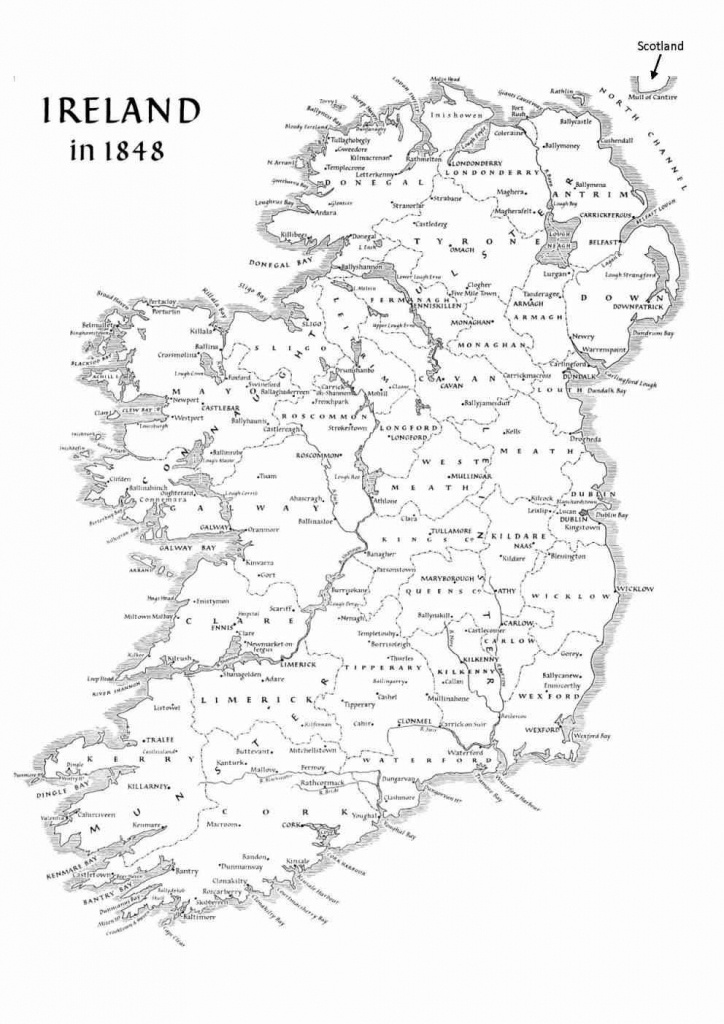 Map Of Ireland Counties Printable – Uk Map - Printable Black And White Map Of Ireland