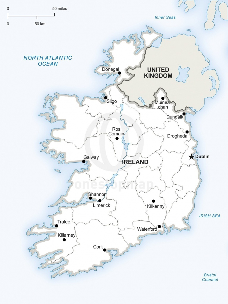 Map Of Ireland Political In 2019 | Maps Of Europe - Continent - Free Printable Map Of Ireland