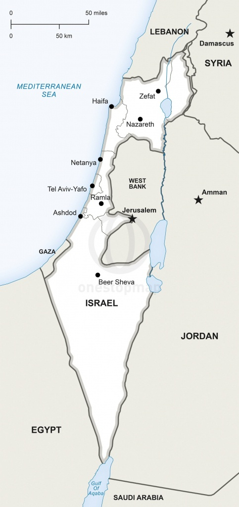 Map Of Israel Political In 2019 | Maps | Map, Map Vector, Israel - Free Printable Map Of Israel