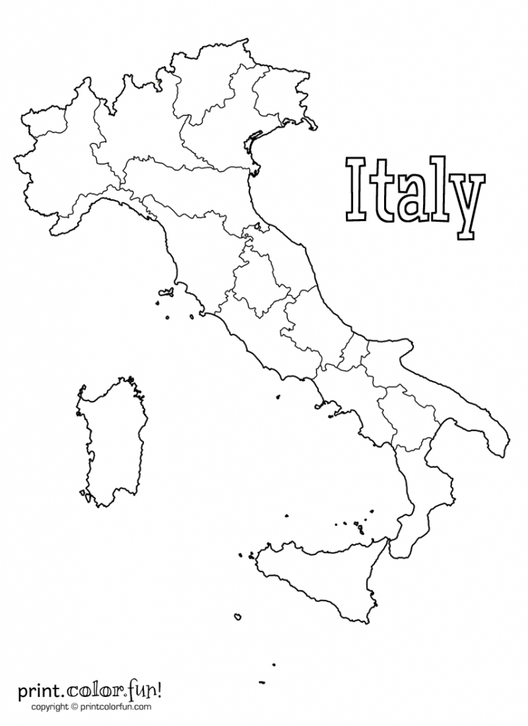 Map Of Italy | Print. Color. Fun! Free Printables, Coloring Pages - Printable Map Of Italy To Color