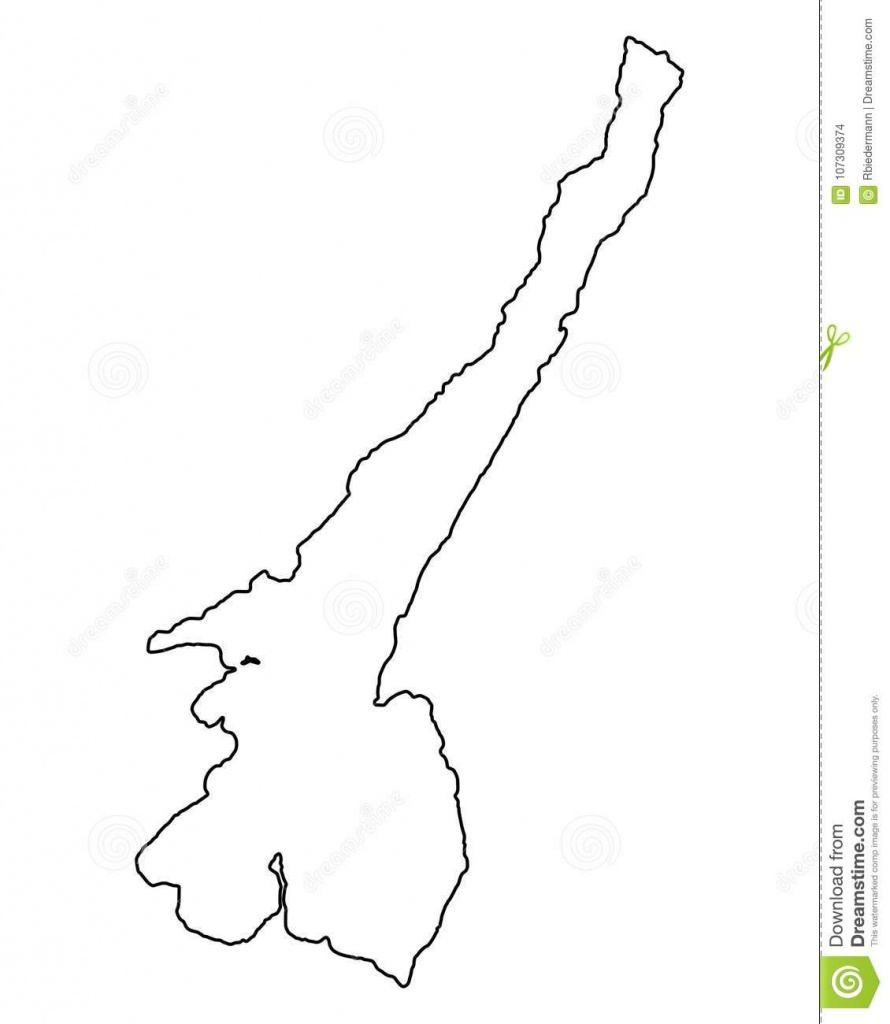Map Of Lake Garda Stock Vector. Illustration Of Contour - 107309374 - Printable Map Of Lake Garda