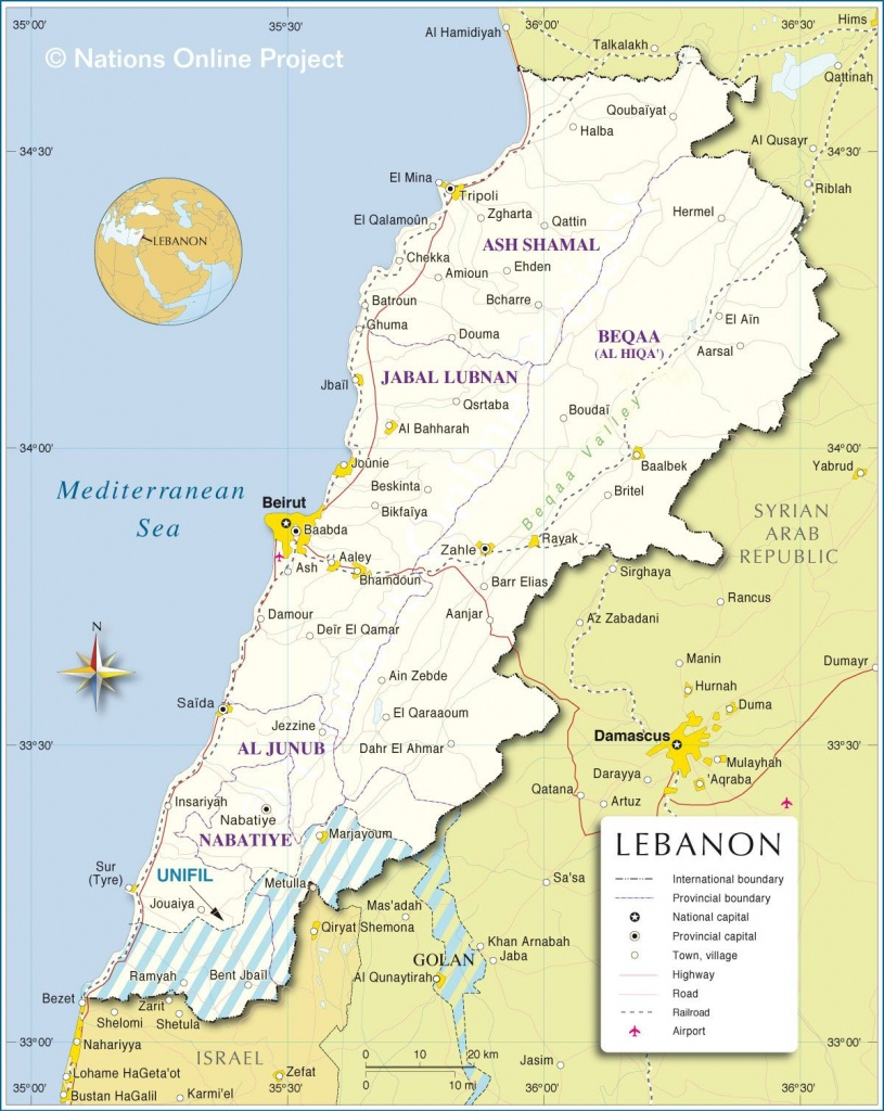 Map Of Lebanon | Travel In 2019 | Lebanon Map, Map, Lebanon - Printable Map Of Lebanon