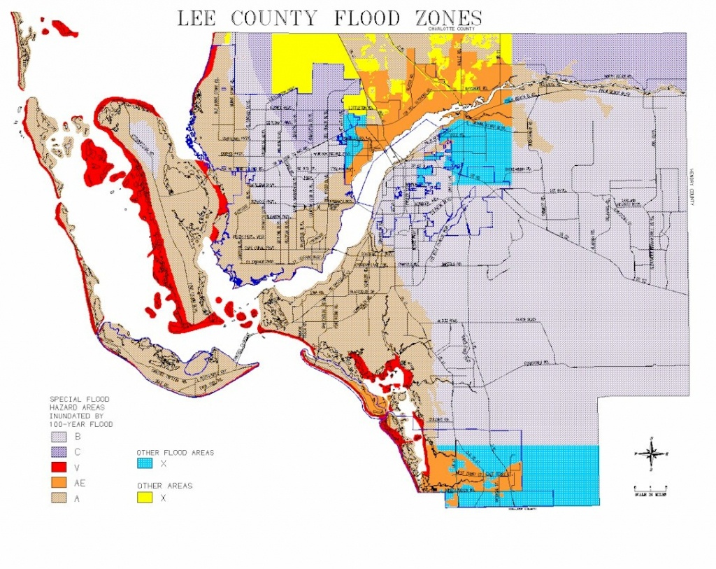 Map Of Lee County Flood Zones - Flood Plain Map Florida