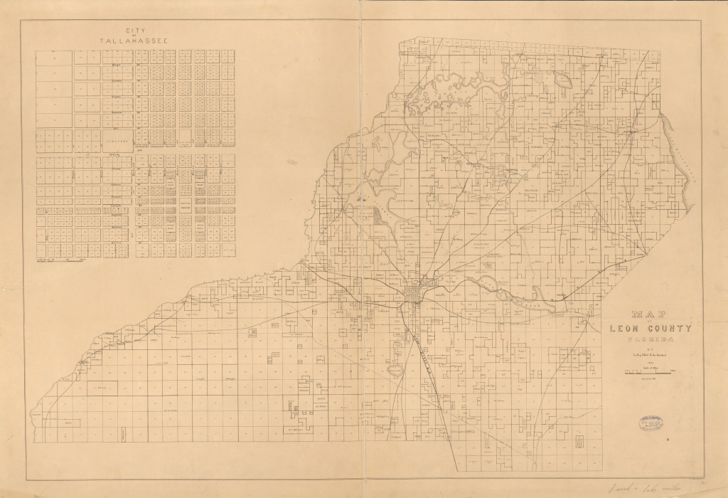 Map Of Leon County, Florida | Library Of Congress - Leon County Texas Plat Maps