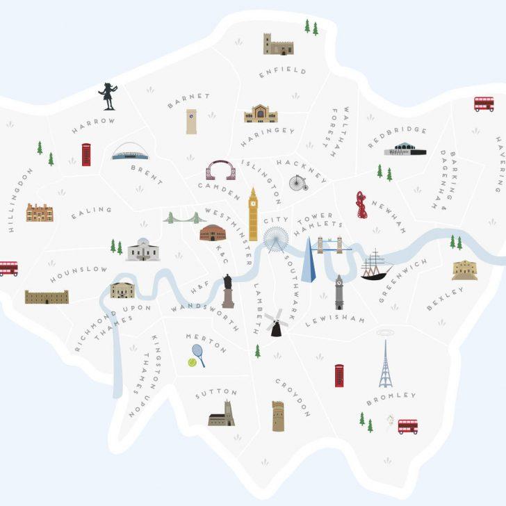Printable Map Of London Boroughs
