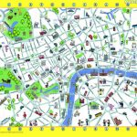 Map Of London With Landmarks Stock Illustration For - Capitalsource - Printable Children's Map Of London