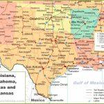 Map Of Louisiana, Oklahoma, Texas And Arkansas   Map Of Oklahoma And Texas