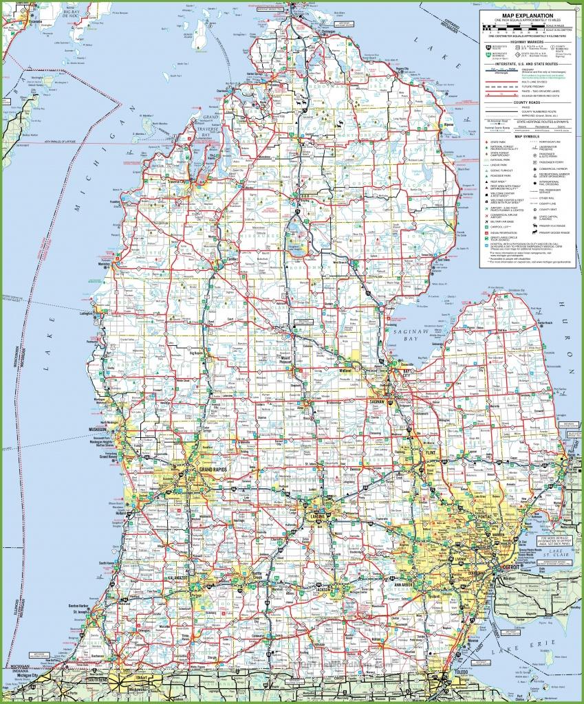 Map Of Lower Peninsula Of Michigan - Printable Map Of Michigan