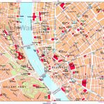 Map Of Main Area Near River | Hungary/budapest In 2019 | Budapest   Budapest Tourist Map Printable