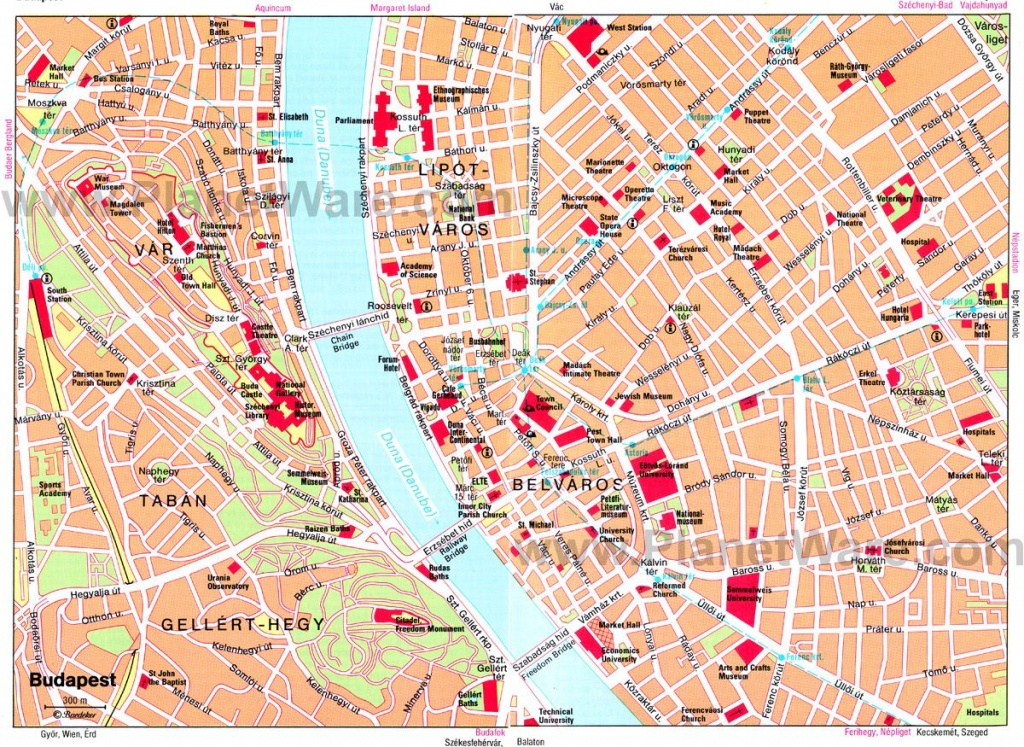 Map Of Main Area Near River | Hungary/budapest In 2019 | Budapest - Budapest Tourist Map Printable