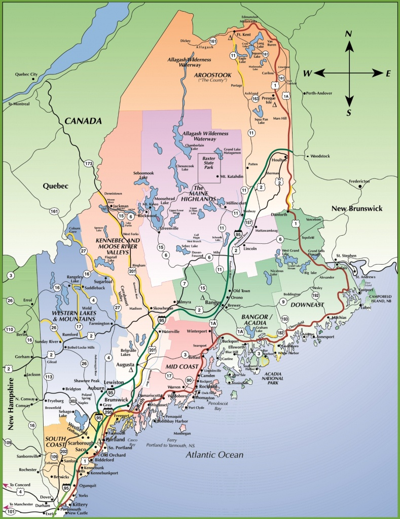 Map Of Maine Coast - Printable Map Of Maine