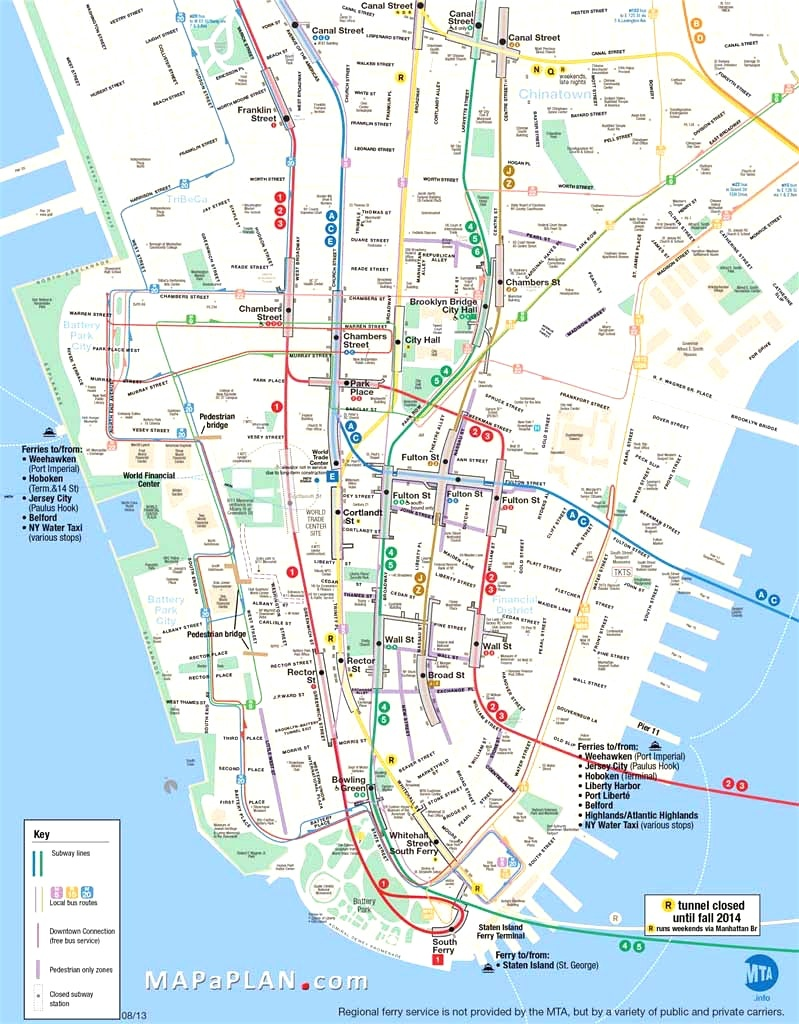 Map Of Manhattan Nyc And Travel Information | Download Free Map Of - Free Printable Map Of New York City