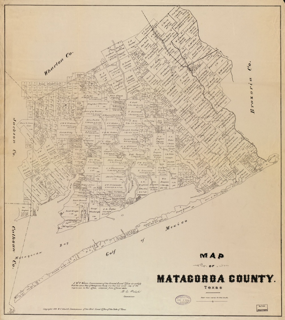 Map Of Matagorda County, Texas | Library Of Congress - Map Of Matagorda County Texas