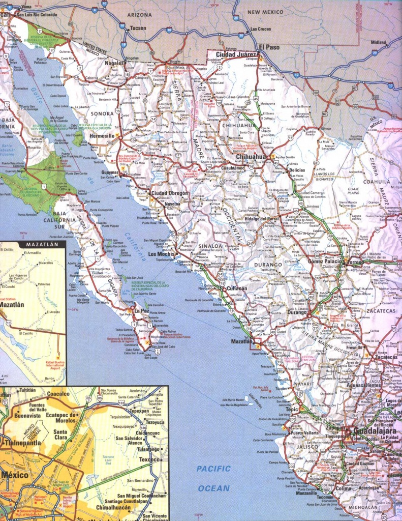 Map Of Mexican Coast And Travel Information | Download Free Map Of - Map Of California And Mexico Coast