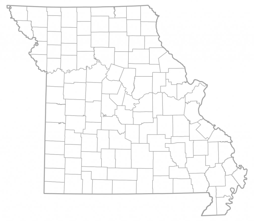 Map Of Missouri Counties | Sksinternational - Printable Blank Map Of Missouri