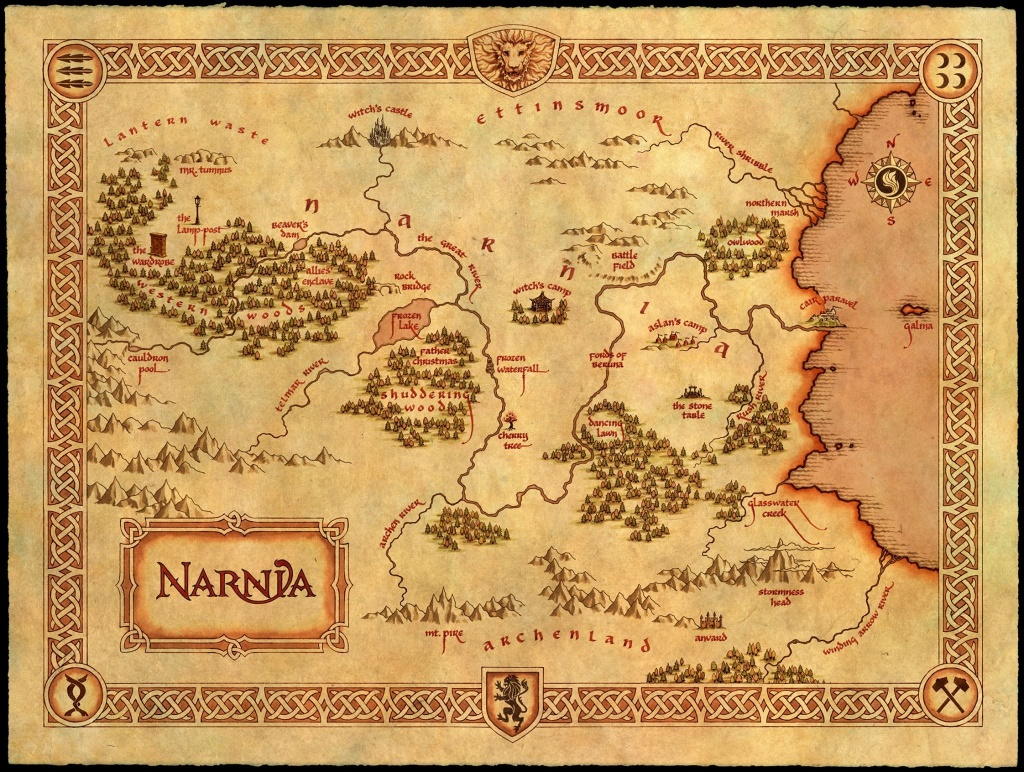 Map Of Narnia Via Narniaweb | Children's Literature Maps In 2019 - Printable Map Of Narnia