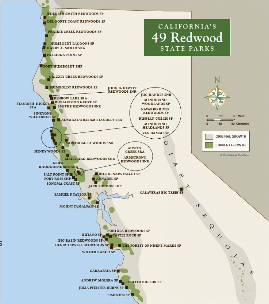 Map Of National Parks In California | Secretmuseum - California State And National Parks Map