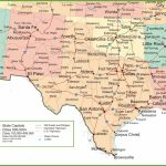 Map Of New Mexico, Oklahoma And Texas   Texas Louisiana Border Map