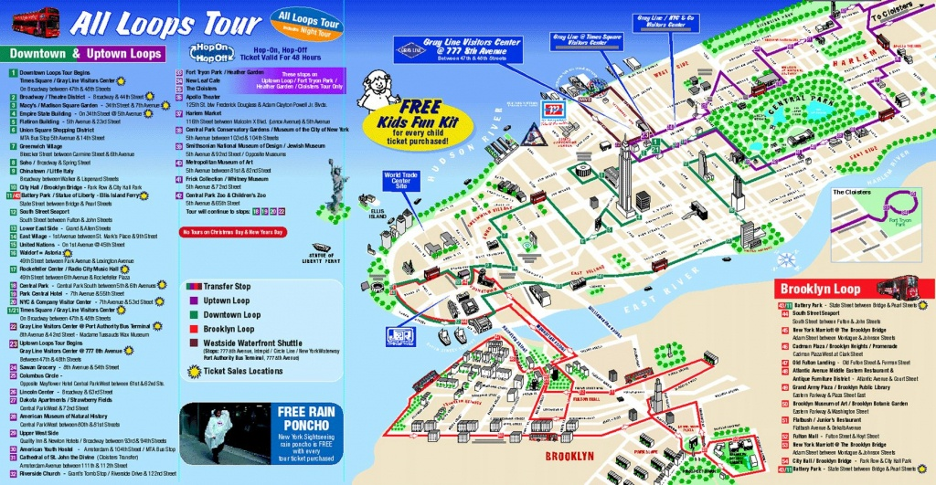Map Of New York City Attractions Printable |  Tourist Map Of New - Printable Map Of Nyc Tourist Attractions